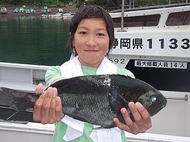 13歳の瑠稀也君も40㎝を釣り10位